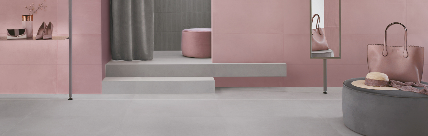Urban Cement  Blossom Pink | U4+Urban Cement Quiet Gray | U1